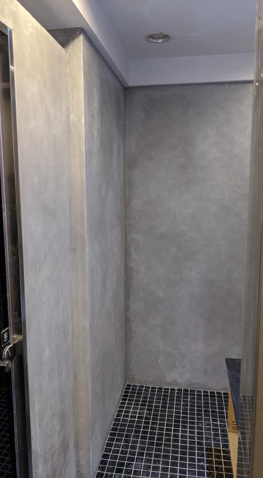 【矽晶礦物塗料-人氣壁】台北信義 清水模牆外觀